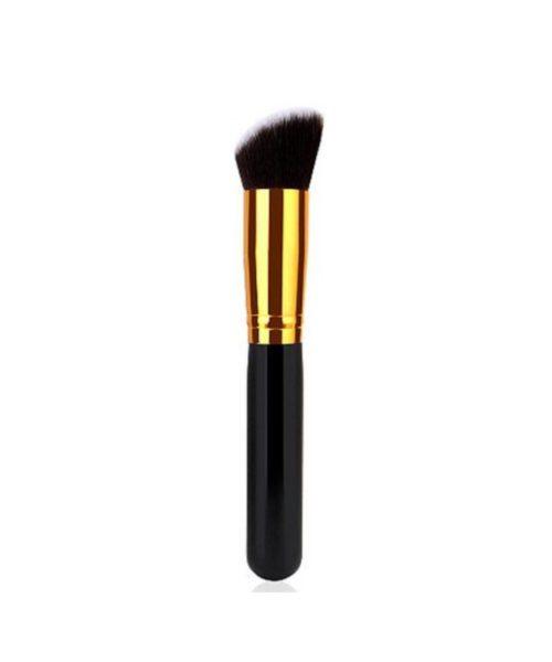 Makeupbørste skrå stor lang guld 1
